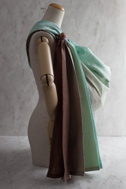 Photo1: Gradation Choco Mint Pale Shoulder (1)