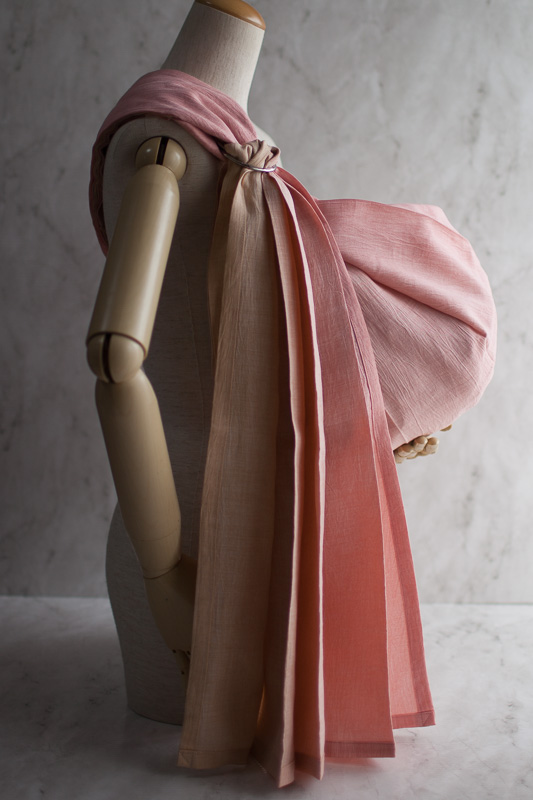 Photo1: Gradation Peche Pink Shoulder (1)
